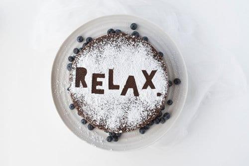 kawa z napisem relax