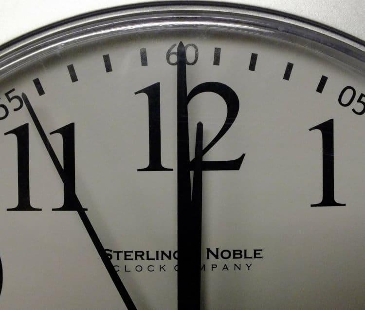 Zbliżenie na stary zegar