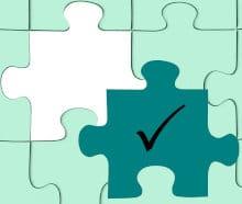 Rysunek przedstawiający puzzle